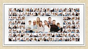 Familien-Collage mit 8 Personen